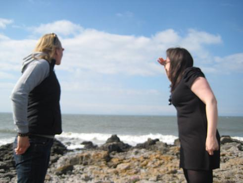 One of my bestest friends and me - looking out to sea!