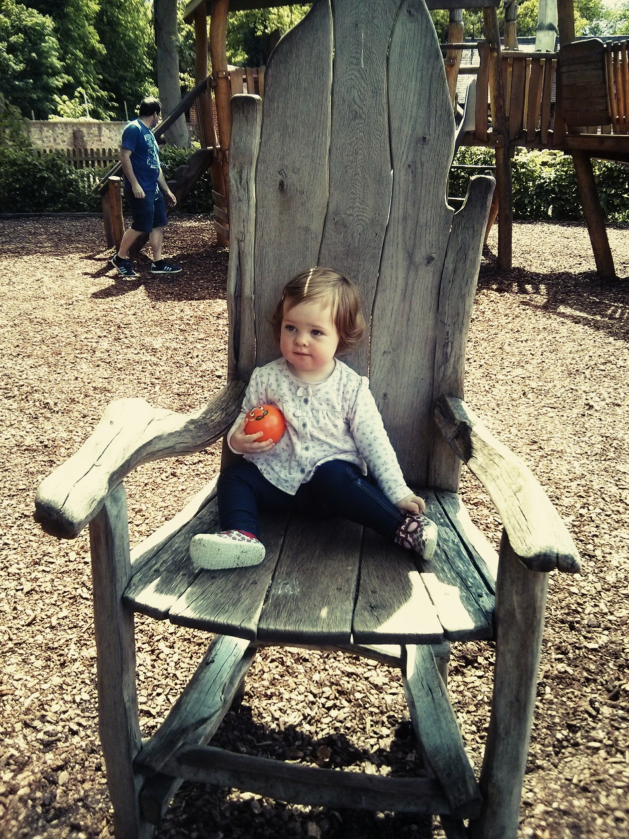 Small girl, big chair