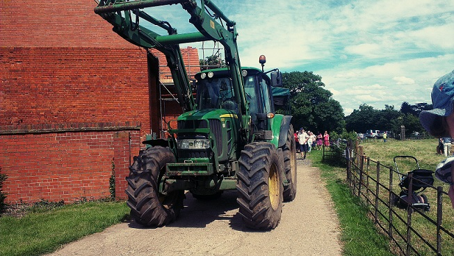 John Deere Tractor - Open Farm Sunday 2014